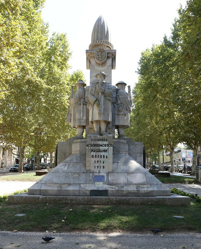 Коимбра. Бульвар Са-да-Бандейра (Jardim da Avenida Sá da Bandeira)