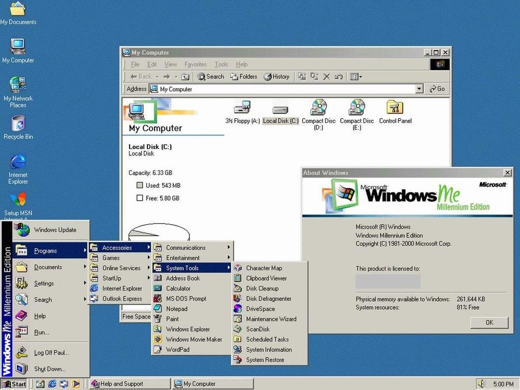 Долгожданная Windows Millennium оказалась не то чтобы совсем дрянью, просто эта ОС по сути та же Win