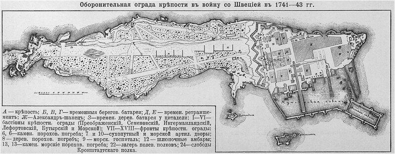 Оборонительная ограда крепости в войну со Швецией в 1741-1743 годах