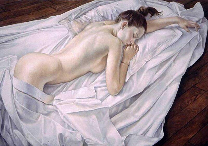 Она пахнет духами и сексом, и чем-то тревожным... Художник Francine Van Hove. НЮ