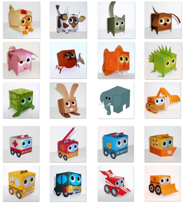 Игрушки-коробочки из бумаги.  Комментарии : LiveInternet.