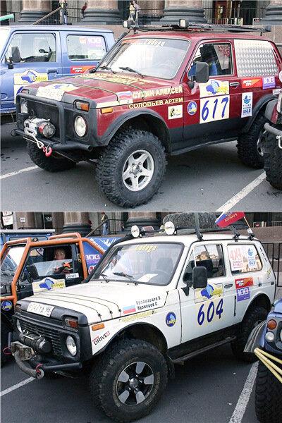 Фото автомобилей НИВА ВАЗ 2121 с мероприятия Ладога