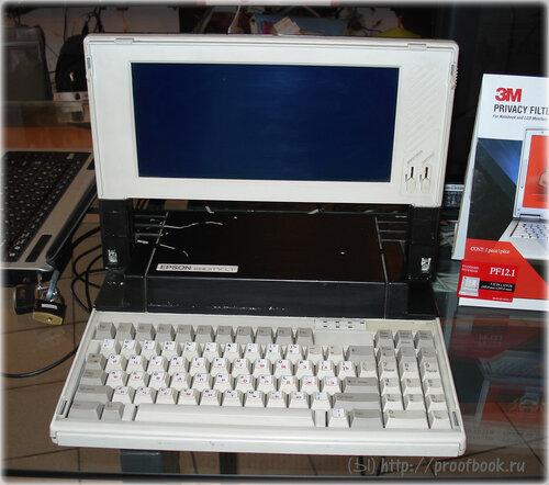 Небольшой музей ноутбуков: EPSON Equity LT