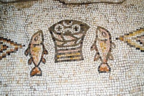 Древняя мозаика - символ Галилеи. Израиль - Палестина