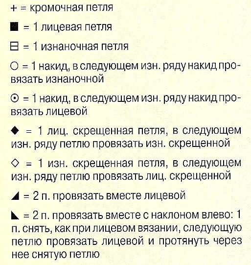 условные обозначения смайликов: