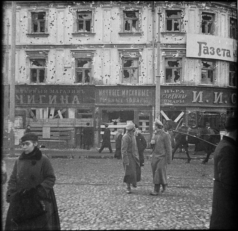 Московская разруха после большевистского переворота 1917 года. Из архива Т. Яржомбека.