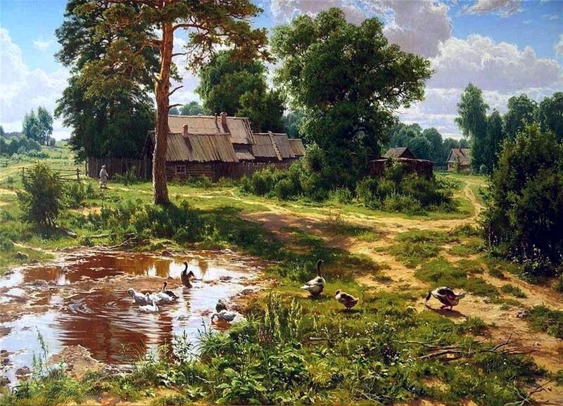 Сергей Басов. Лето в деревне.