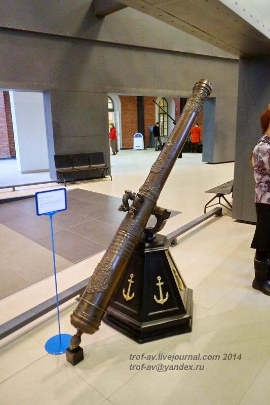 Русская пушка калибра 83 мм, 1692 г., Центральный военно-морской музей, Санкт-Петербург