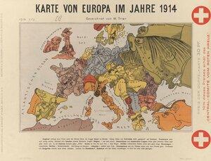 1914. Карта Европы в 1914. Берлин