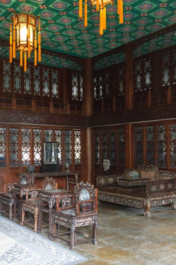 Традиционный китайский интерьер, дворец князя Гуна, Пекин
