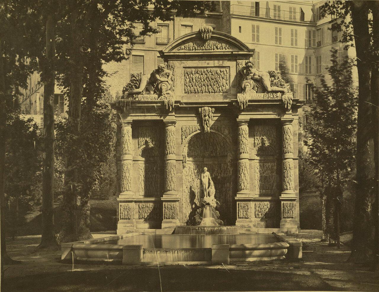 1857.  Фонтан Медичи в саду Люксембургского дворца