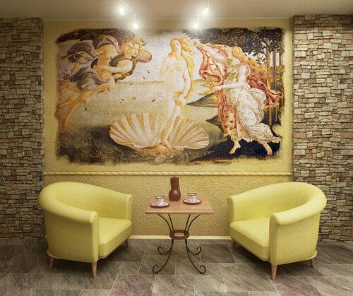 В интерьере фрески передают стиль обладателя и его индивидуальность.