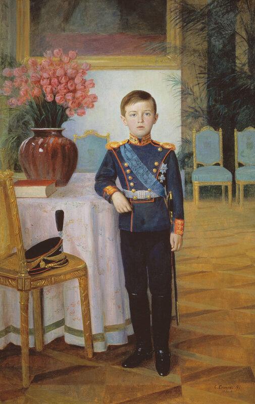 Егорнов Сергей Семёнович. Портрет царевича Алексея Николаевича