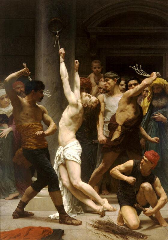 Бичевание Иисуса Христа. Вильям Бугеро.1880