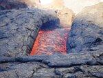 Река лавы на Толбачике. Воздух дрожит от температуры. Поэтому не резко.