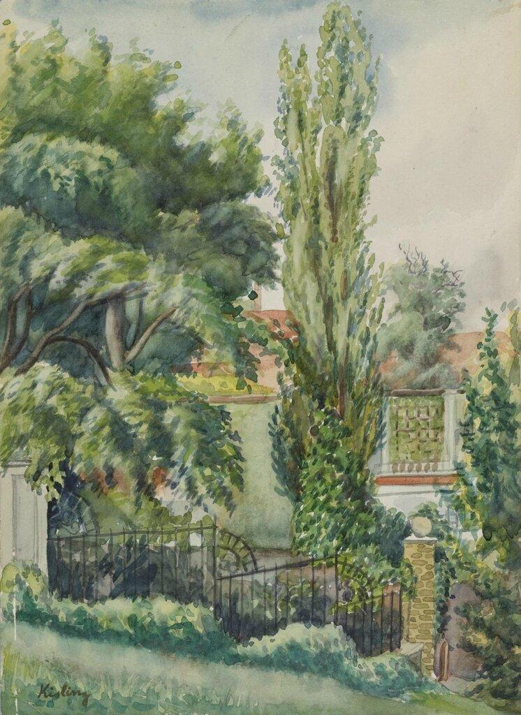 Пейзаж в кампаньи. 1948. 29.8 х 21.5 см. акварель, бумага. Частная коллекция.jpg