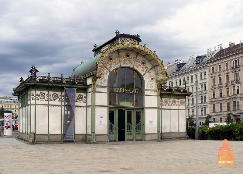 Площадь Карлсплатц в Вене