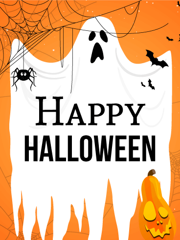 Happy Halloween Originale Immagine Di Auguri - Gratis, belle dal vivo auguri