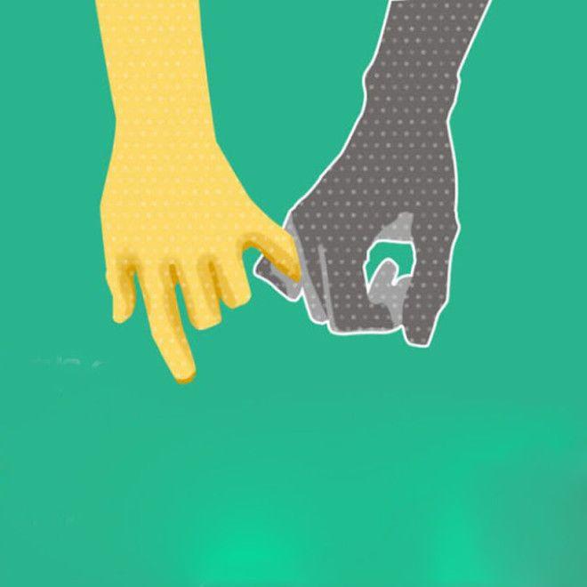 Партнеров, которые держатся за один палец, связывают очень спокойные, доверительные отношения. При э