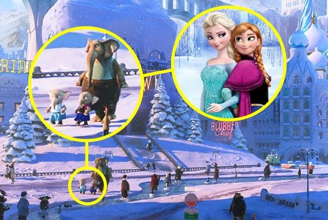 © Walt Disney  Просмотр мультфильма превращается внастоящую игру. Отсылок тут множество. Так,