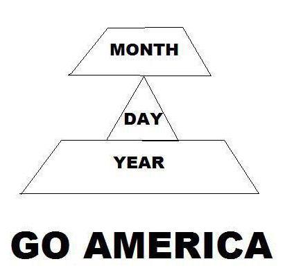 Сначала месяц, потом число, потом год. Почему в таком порядке? Да просто.
