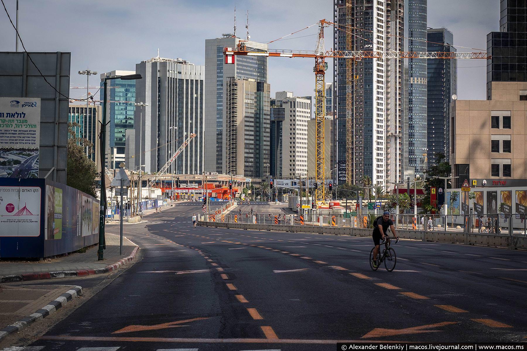 Самое охраняемое место в стране, тель-авивский Манхэттен, район алмазной биржи, в этот день тоже сов