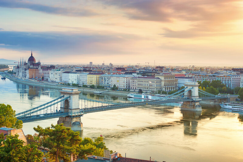Будапешт. Цепной мост, панорама