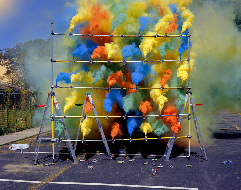 The Art of Smoke Bombs and Fireworks by Olaf Breuning (5 pics)