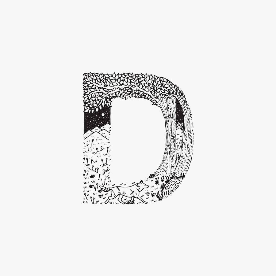 Creative Black and White Animal Alphabet