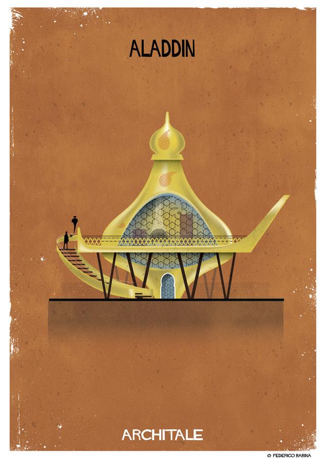 Projetos de arquitetura inspirados em personagens de contos de fada (15 pics)