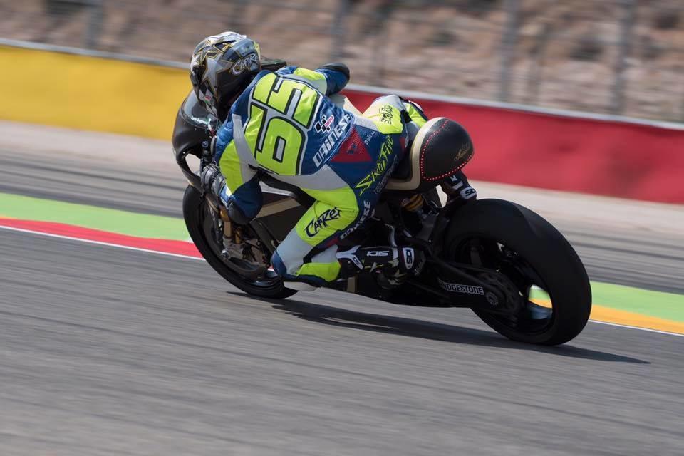 E-MotoGP: Лорис Капиросси протестировал электроцикл Sarolea в Арагоне
