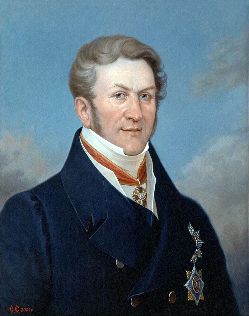 Портрет гос. деятеля XIXв. барона Кампенгаузена Балтазара Балтазаровича.