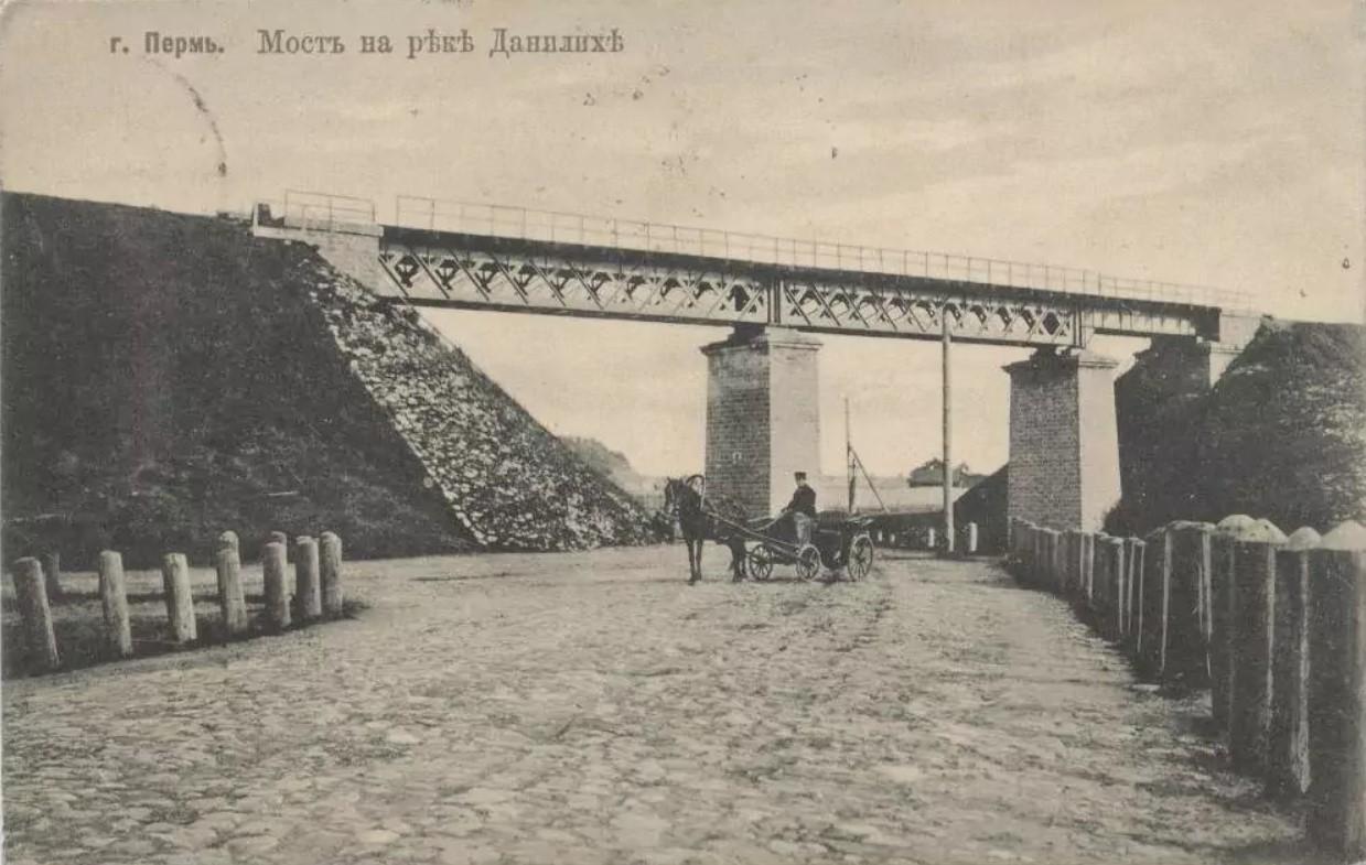 Окрестности Перми. Мост на реке Данилиха