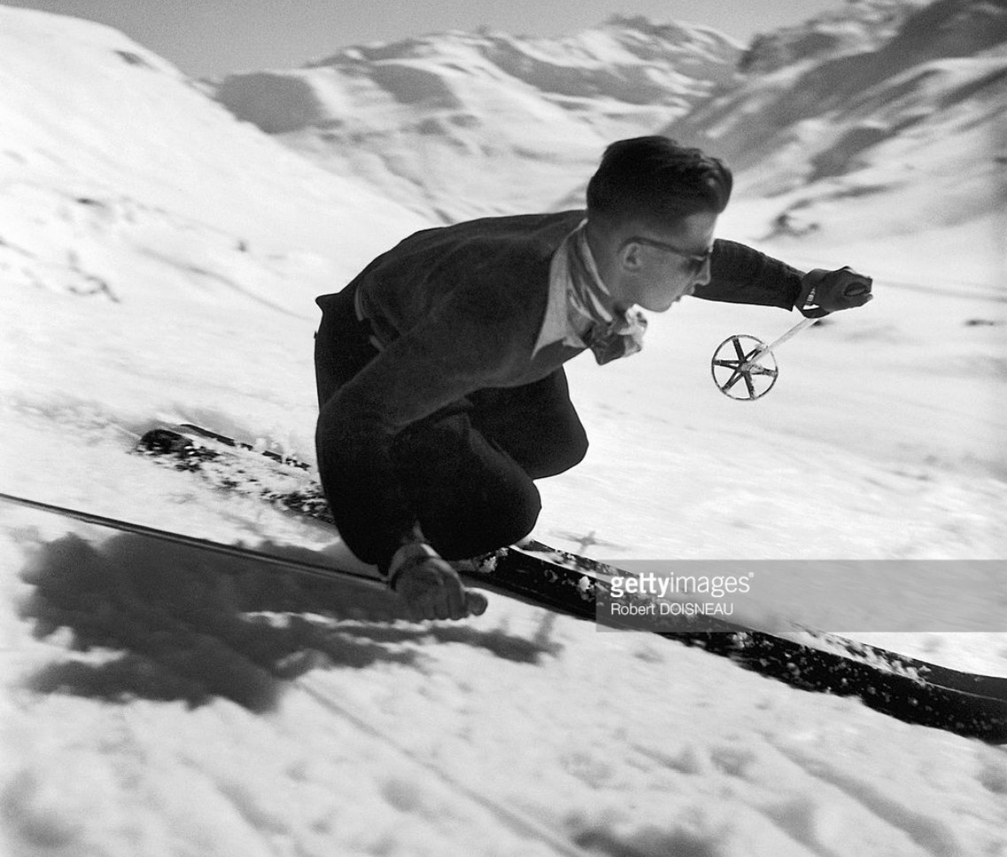 1946. Скоростной спуск на лыжах в Тироле, Австрия