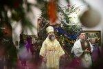 11 января.  Божественная литургия в Троицком храме г.Иваново