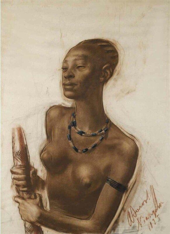 Яковлев Александр Евгеньевич (1887-1938) «Портрет женщины мангбету»
