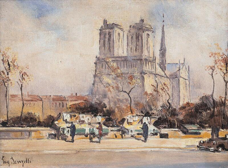 Parisienne y Parizh.Paris pintura.