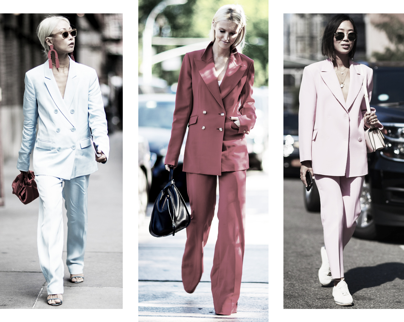 DISTRICT F - NEW YORK STREET STYLE SS18 double-breasted suits trend