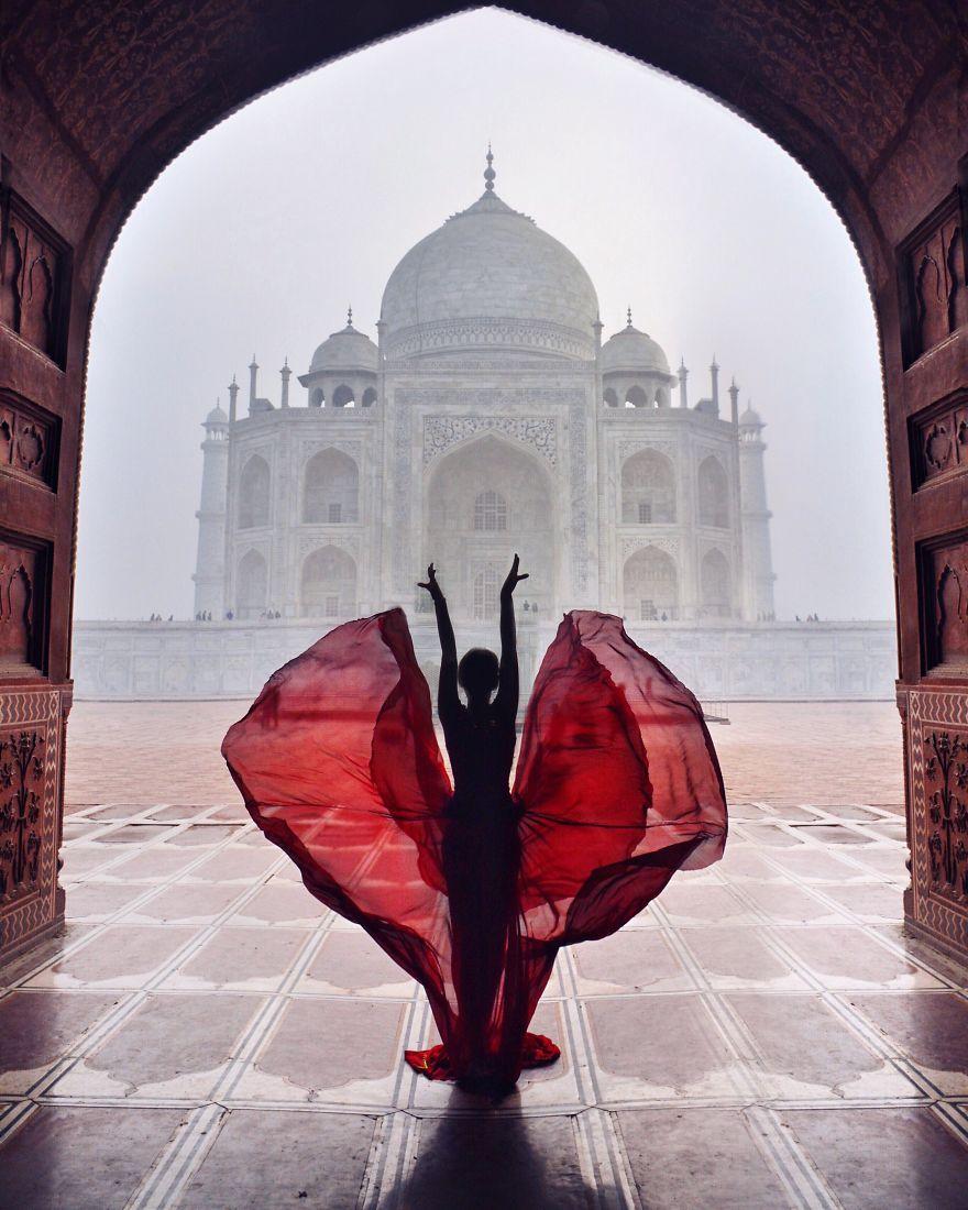 Тадж-Махал, Индия.   Теперь без съемок не обходится ни одно путешествие Ninelle: она за несколь