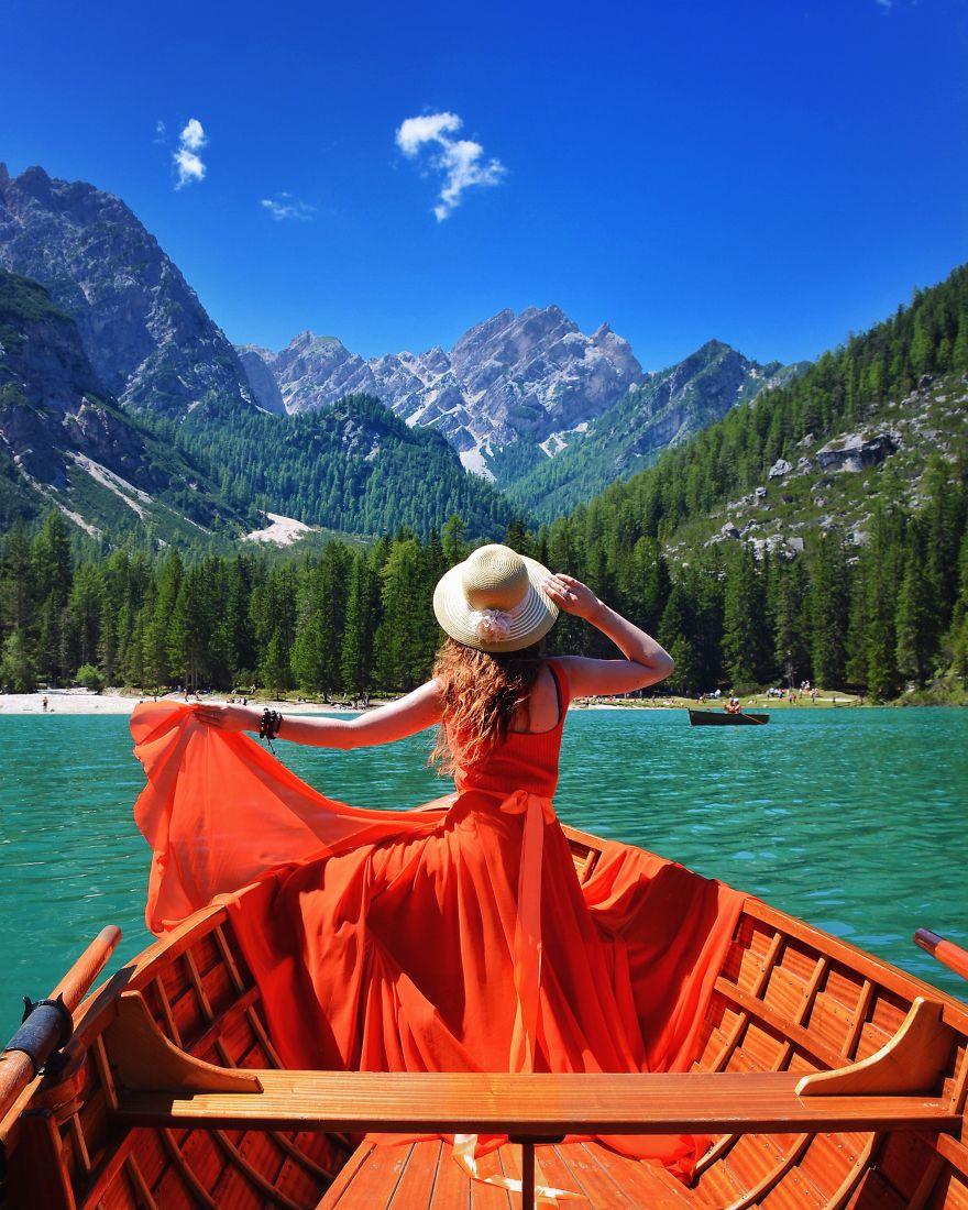 Озеро Брайес, Италия.