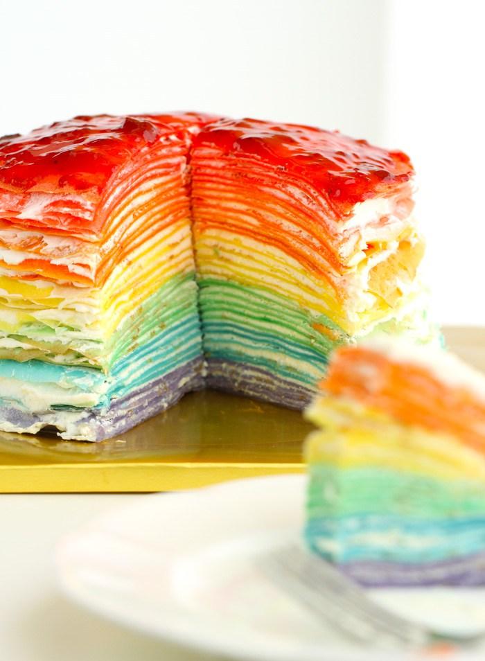 Рецепт радужного пирога (4 фото)