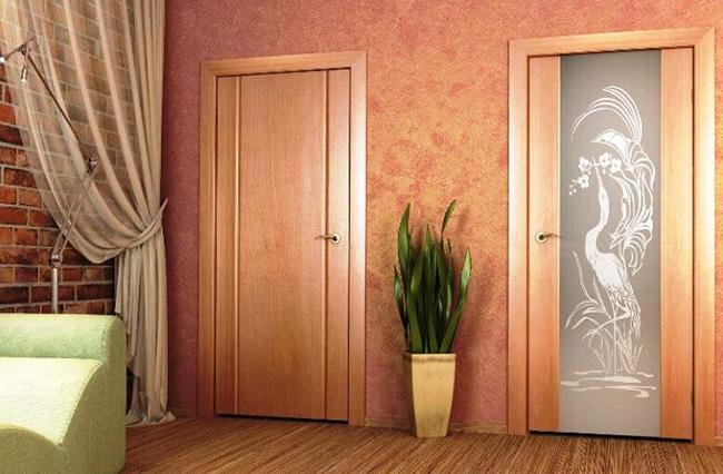 Стандартные распашные двери