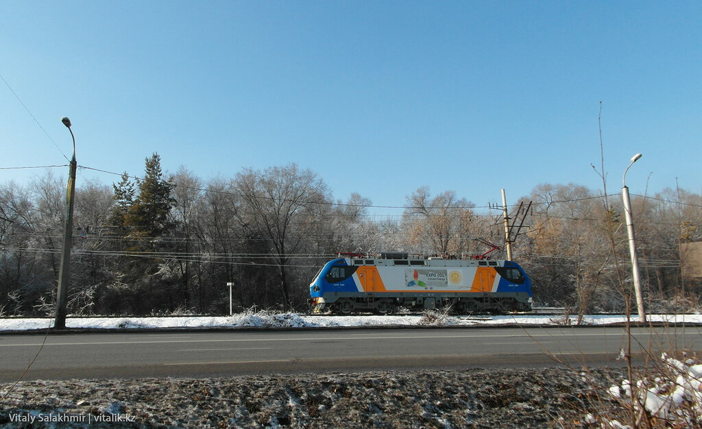 Поезд на Суюнбая.