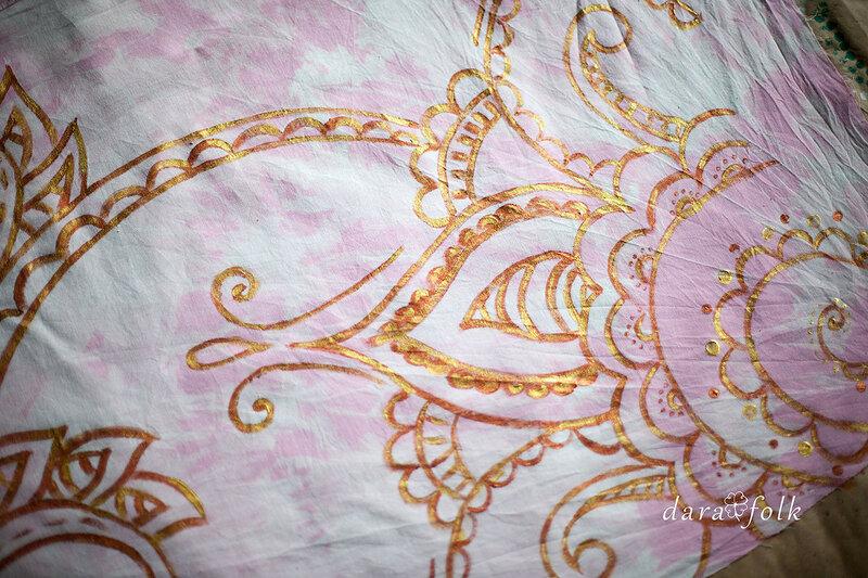 Роспись ткани для новой коллекции