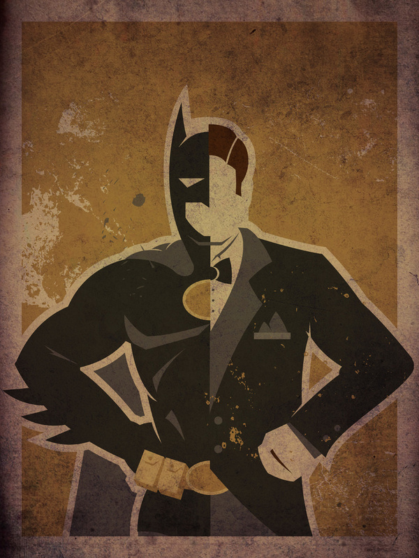 Superheroes and their Alter Egos - Danny Haas