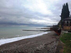 У моря Чёрного, в Абхазии, время зимнее, Новогоднее (15).JPG