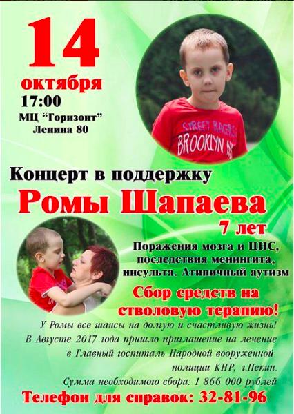 Концерт в поддержку Ромы Шапаева