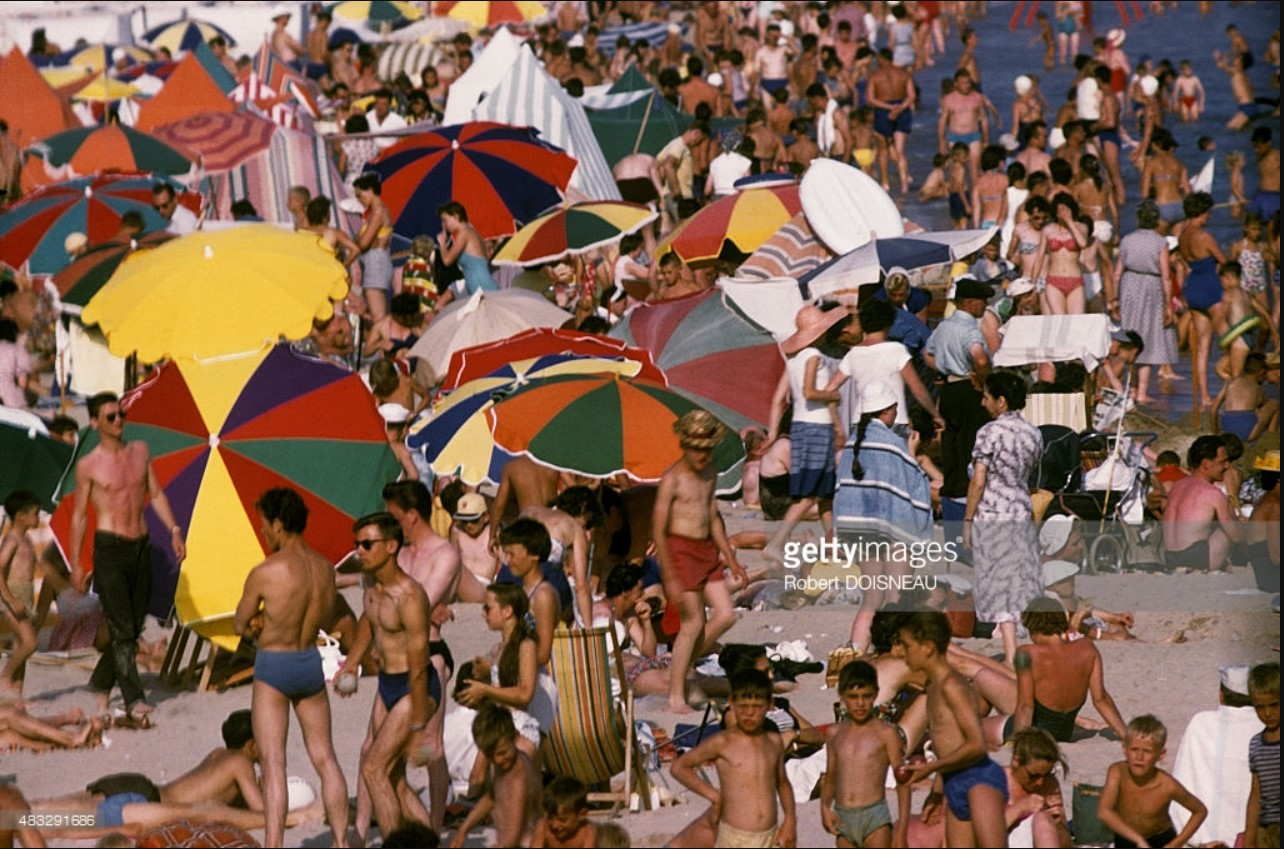 Пляж Сан-д'Олоннес летом, Вандея