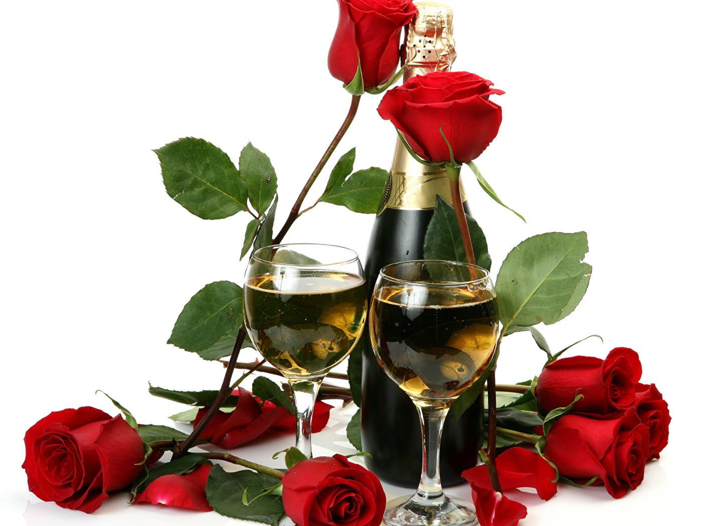 Розы и шампанское.