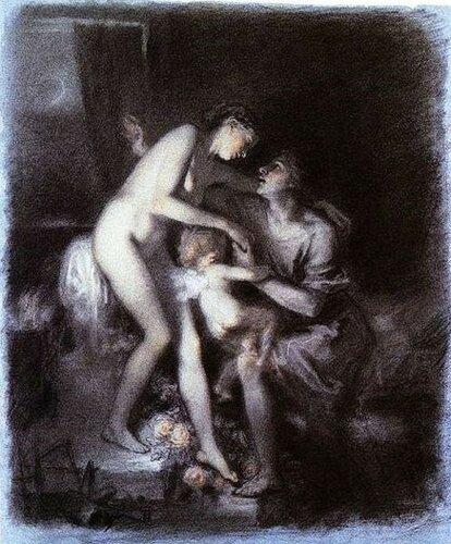 Nicolas François Octave Tassaert  Pygmalion And Galatea  Пигмалион И Галатея